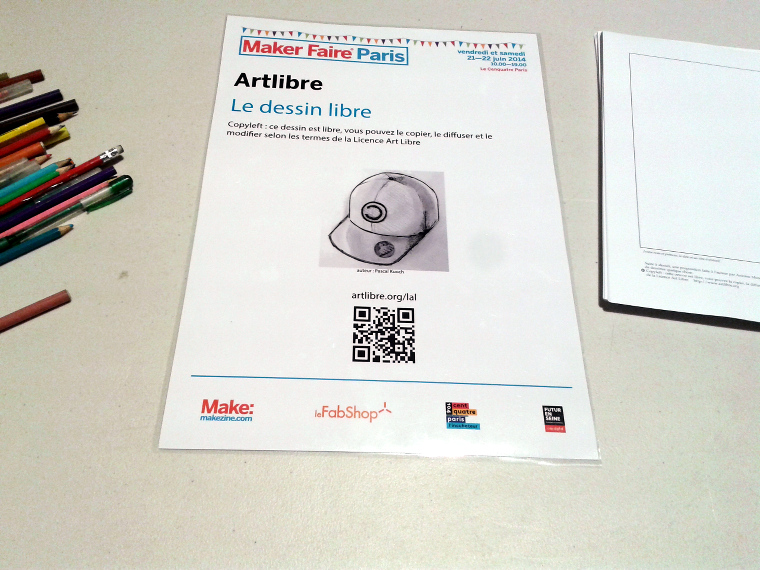 MakerFaire Paris Dessins Libres Copyleft
